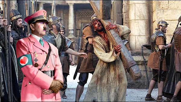 Adolf bei der Kreuzigung