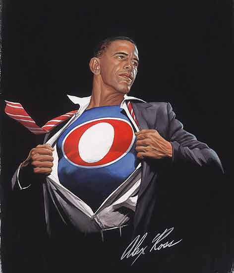 Superheld Obama by Alex Ross