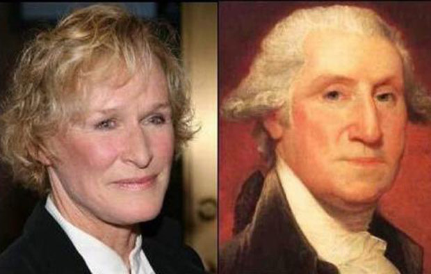 GlennCloseGeorgeWashington